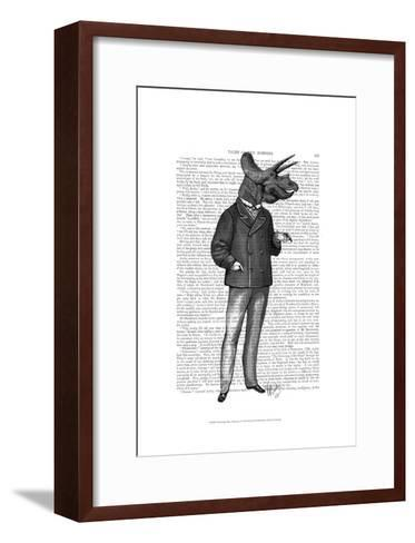 Triceratops Man 1 Dinosaur-Fab Funky-Framed Art Print