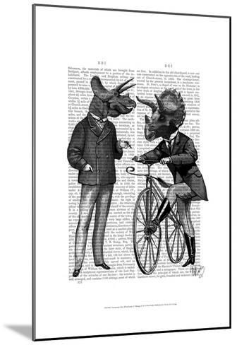 Triceratops Men What Kind of Mileage-Fab Funky-Mounted Art Print