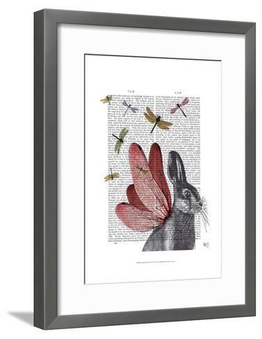 Dragonfly Hare-Fab Funky-Framed Art Print