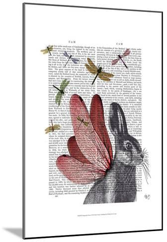 Dragonfly Hare-Fab Funky-Mounted Art Print