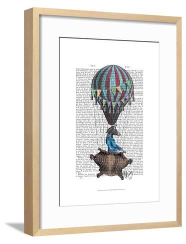 Flying Zebra-Fab Funky-Framed Art Print