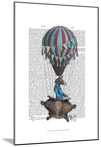 Flying Zebra-Fab Funky-Mounted Art Print