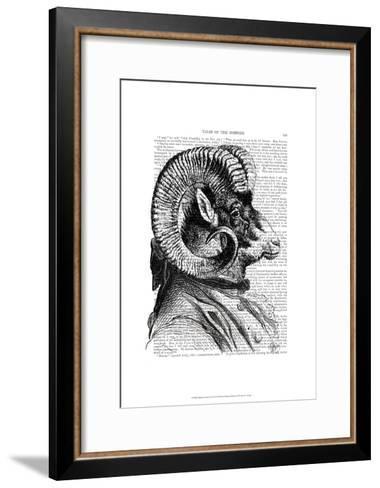 Bighorn Sheep In Suit-Fab Funky-Framed Art Print