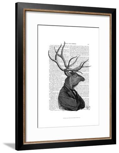 Deer Portrait 1-Fab Funky-Framed Art Print