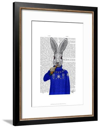Rabbit In Sweater-Fab Funky-Framed Art Print