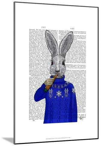 Rabbit In Sweater-Fab Funky-Mounted Art Print