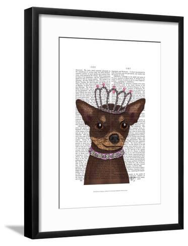 Brown Chihuahua And Tiara-Fab Funky-Framed Art Print