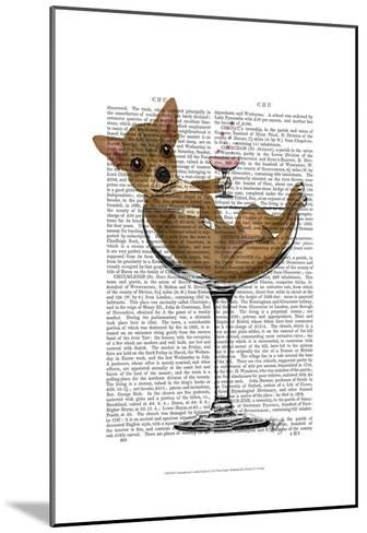 Chihuahua in Cocktail Glass-Fab Funky-Mounted Art Print