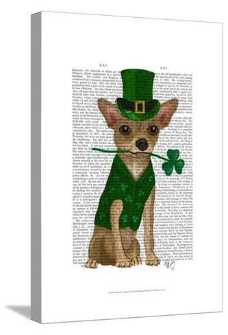 Chihuahua Leprechaun-Fab Funky-Stretched Canvas Print