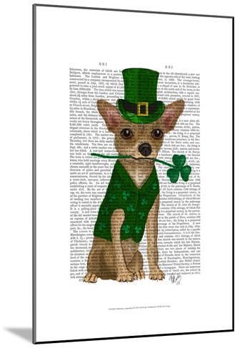 Chihuahua Leprechaun-Fab Funky-Mounted Art Print