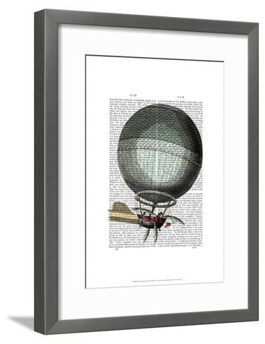 Blanchard Vintage Hot Air Balloon-Fab Funky-Framed Art Print