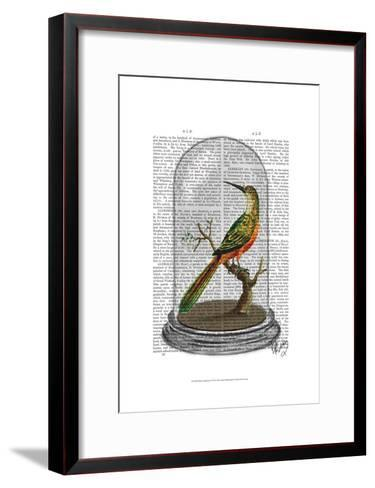 Bird In Bell Jar-Fab Funky-Framed Art Print