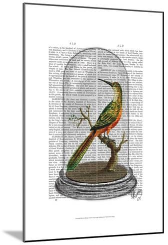 Bird In Bell Jar-Fab Funky-Mounted Art Print