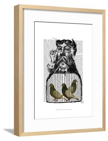 Pigeon Fancier-Fab Funky-Framed Art Print