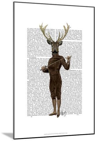 Fencing Deer Full-Fab Funky-Mounted Art Print