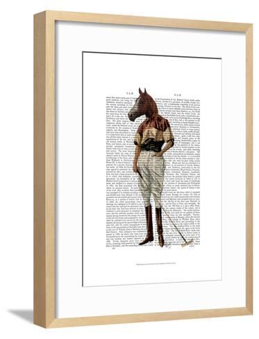Polo Horse Full-Fab Funky-Framed Art Print