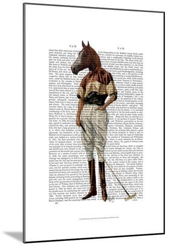 Polo Horse Full-Fab Funky-Mounted Art Print