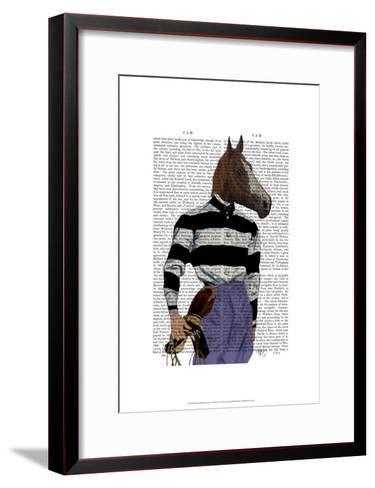 Horse Racing Jockey Portrait-Fab Funky-Framed Art Print