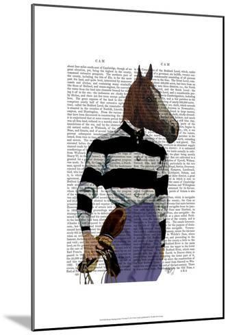 Horse Racing Jockey Portrait-Fab Funky-Mounted Art Print