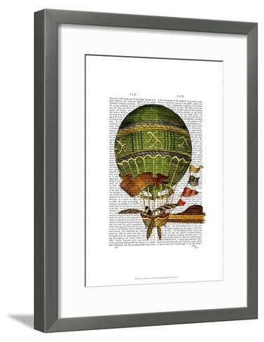 Hot Air Balloon Green-Fab Funky-Framed Art Print