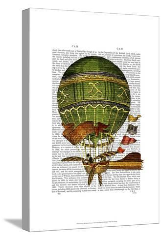 Hot Air Balloon Green-Fab Funky-Stretched Canvas Print