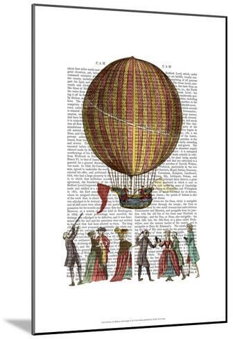 Hot Air Balloon And People-Fab Funky-Mounted Art Print