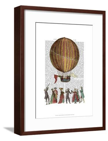 Hot Air Balloon And People-Fab Funky-Framed Art Print
