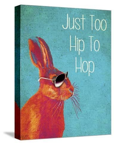 Too Hip To Hop Blue-Fab Funky-Stretched Canvas Print