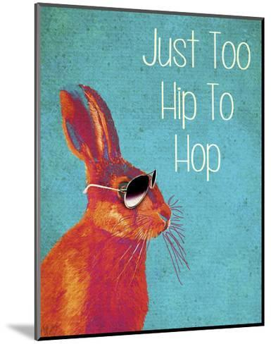 Too Hip To Hop Blue-Fab Funky-Mounted Art Print