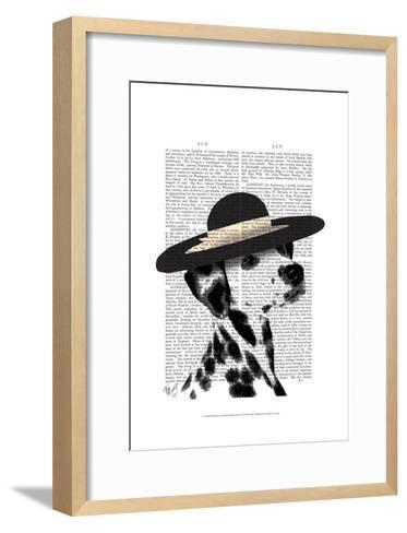 Dalmatian and Brimmed Black Hat-Fab Funky-Framed Art Print