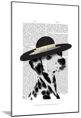Dalmatian and Brimmed Black Hat-Fab Funky-Mounted Art Print