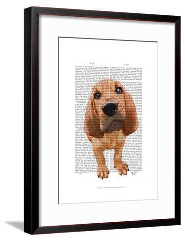 Bloodhound Puppy-Fab Funky-Framed Art Print