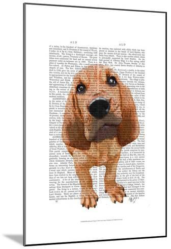 Bloodhound Puppy-Fab Funky-Mounted Art Print