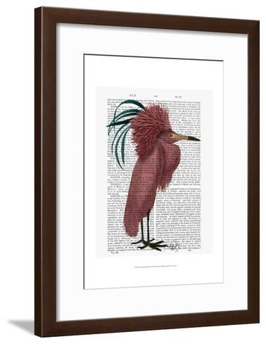 Crested Marsala Bird-Fab Funky-Framed Art Print