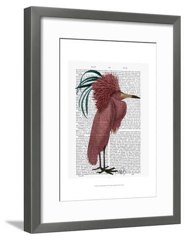 Crested Marsala Bird-Fab Funky-Framed Art Print