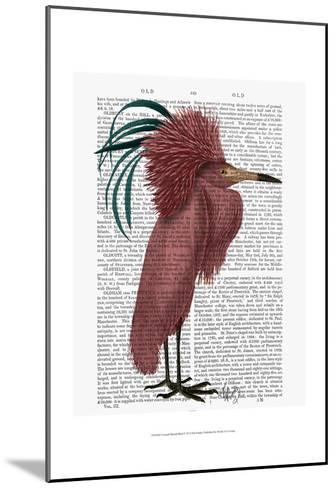 Crested Marsala Bird-Fab Funky-Mounted Art Print