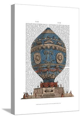Montgolfier Aerostatique Hot Air Balloon-Fab Funky-Stretched Canvas Print