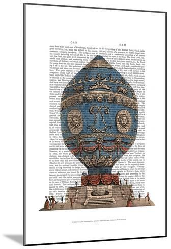 Montgolfier Aerostatique Hot Air Balloon-Fab Funky-Mounted Art Print