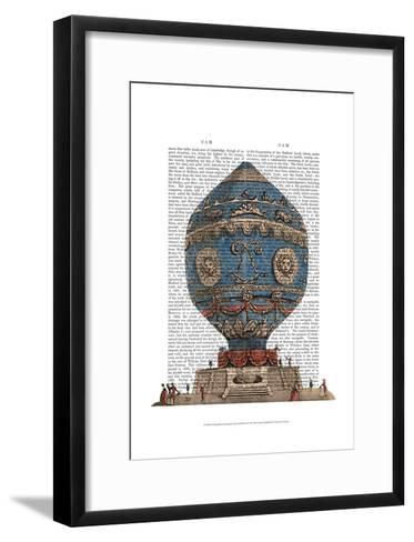 Montgolfier Aerostatique Hot Air Balloon-Fab Funky-Framed Art Print