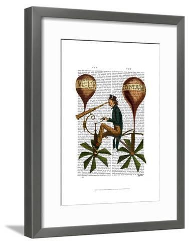 Voyage A La Lune Hot Air Balloon-Fab Funky-Framed Art Print