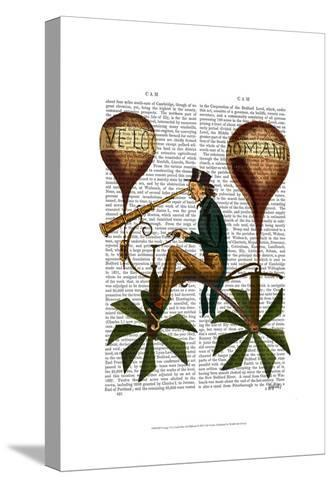Voyage A La Lune Hot Air Balloon-Fab Funky-Stretched Canvas Print