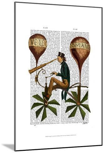 Voyage A La Lune Hot Air Balloon-Fab Funky-Mounted Art Print