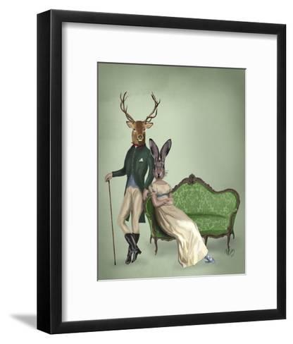 Mr Deer and Mrs Rabbit-Fab Funky-Framed Art Print