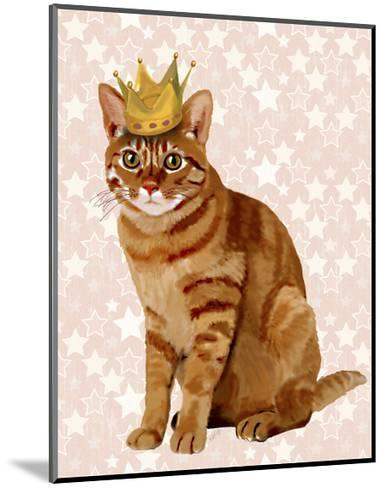 Ginger Cat with Crown Full-Fab Funky-Mounted Art Print