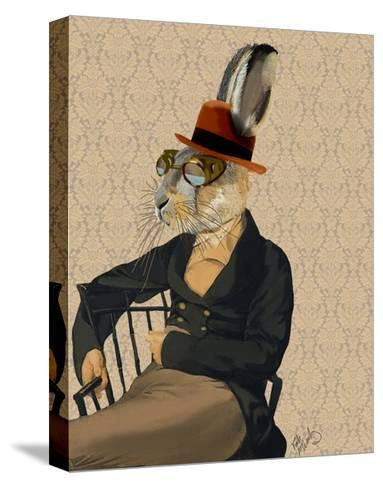 Horatio Hare on Chair-Fab Funky-Stretched Canvas Print