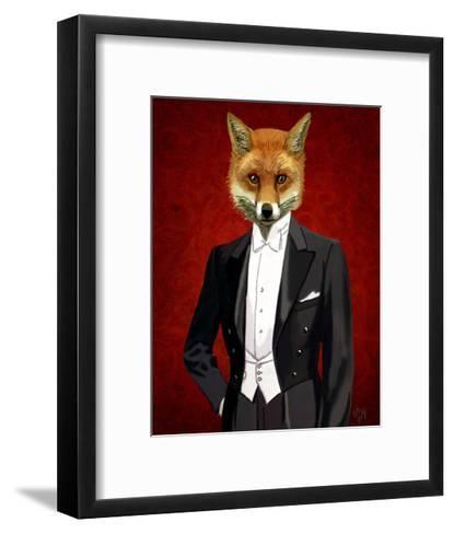 Fox In Evening Suit Portrait-Fab Funky-Framed Art Print