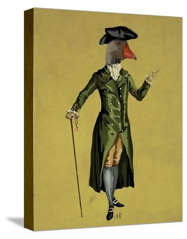 Goose in Green Regency Coat-Fab Funky-Stretched Canvas Print