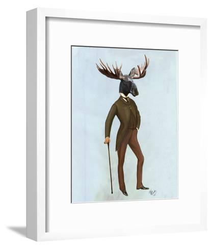 Moose In Suit Full-Fab Funky-Framed Art Print
