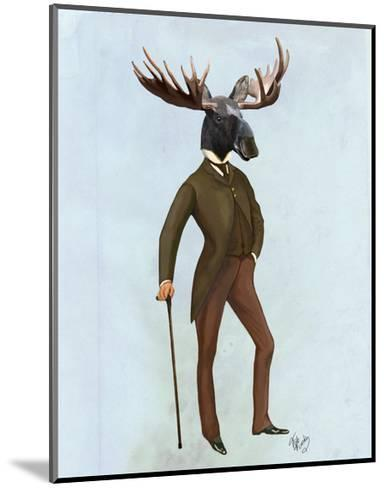 Moose In Suit Full-Fab Funky-Mounted Art Print
