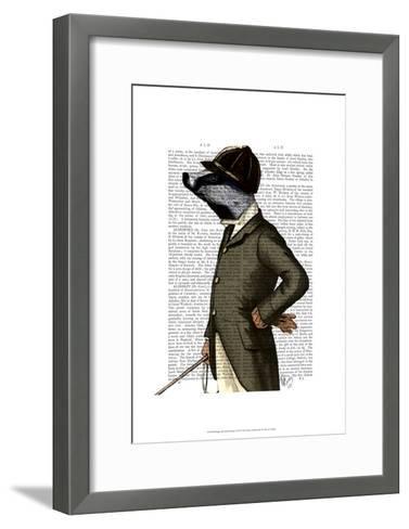 Badger The Rider Portrait-Fab Funky-Framed Art Print